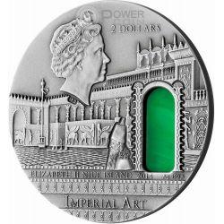 MESOPOTAMIA Imperial Art Agate Crystal 2 Oz Silber Münze 10$ Niue 2014