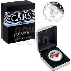 JAGUAR E-TYPE XKE Sports Cars Серебро Монета 1$ Тувалу 2006