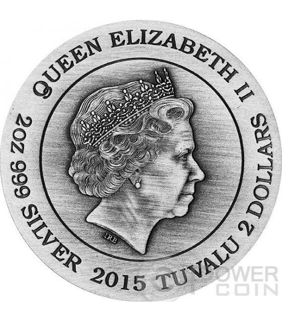 HERA ERA Dea Olimpo Goddesses of Olympus Alti Rilievi Moneta Argento 2 Oz 2$ Tuvalu 2015