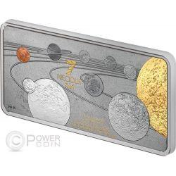 PRECIOUS 7 IN 1 Sistema Solare Moneta Argento 1oz 10$ Solomon Islands 2014