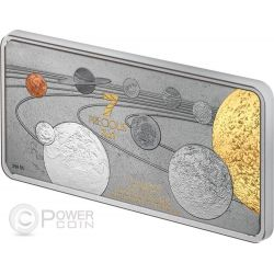 PRECIOUS 7 IN 1 Solar System 1oz Silver Coin 10$ Solomon Islands 2014