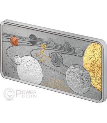 PRECIOUS 7 IN 1 Sistema Solare Moneta Argento 1oz 10$ Isole Salomone 2014