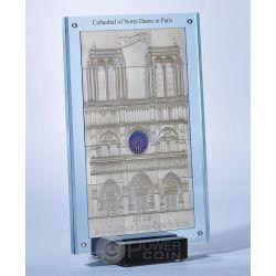 CATHEDRAL NOTRE DAME De Paris 1 Kg Kilo Silber Set 15 Münze 10$ Niue 2014