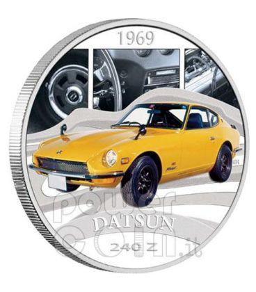 DATSUN 240Z Sports Cars Silver Coin 1$ Tuvalu 2006