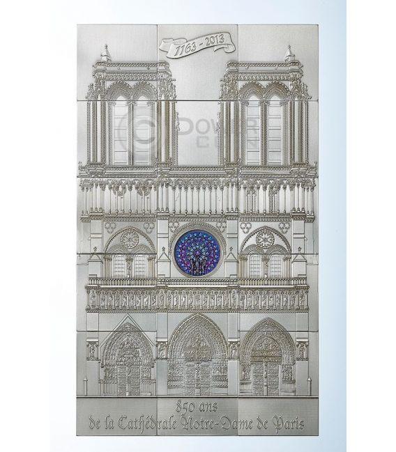 CATTEDRALE NOTRE DAME Di Parigi 1 Kg Kilo Argento Set 15 Monete 10$ Niue 2014