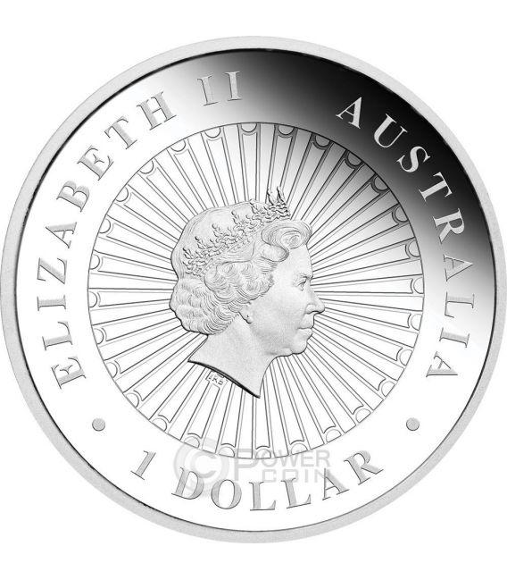 ROUGH SCALED PYTHON Opal Serie Pitone Opale Moneta Argento 1$ Australia 2015