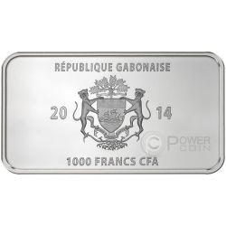 GLOBAL ART COLLECTION Native Set 7 Moneda Plata 1000 Francs Gabon 2014