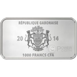 GLOBAL ART COLLECTION Native Set 7 Silber Münze 1000 Francs Gabon 2014