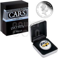 DATSUN 240Z Sports Cars Серебро Монета 1$ Тувалу 2006