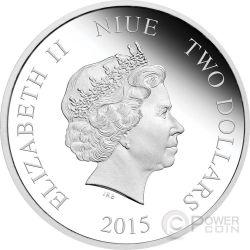 CINDERELLA Disney Princess 1 oz Silber Proof Münze 2$ Niue 2015