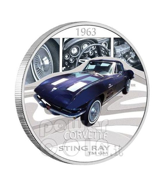 CHEVROLET CORVETTE STING RAY Sports Cars Moneda Plata 1$ Tuvalu 2006