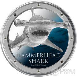 HAMMERHEAD SHARK Ocean Predators Silver Coin 1 Oz 2$ Niue 2013