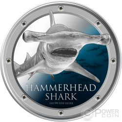 HAMMERHEAD SHARK Squalo Martello Ocean Predators Moneta Argento 2$ Niue 2013