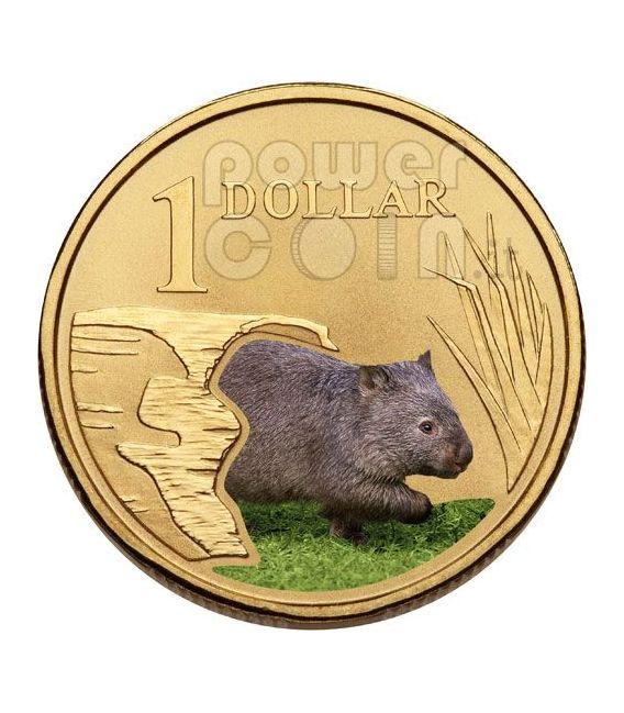WOMBAT LAND SERIES Moneda 1$ Australia 2008