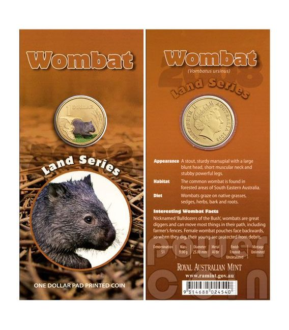 WOMBAT LAND SERIES Münze 1$ Australia 2008