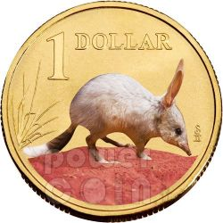 BILBY BANDICOOT LAND SERIES Coin 1$ Australia 2009