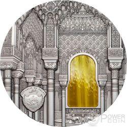 TIFFANY ART NASRID STYLE Alhambra Granada 2 Oz Серебро Монета 10$ Палау 2015