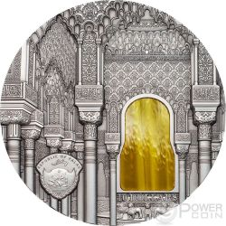 TIFFANY ART NASRID STYLE Alhambra Granada 2 Oz Silber Münze 10$ Palau 2015