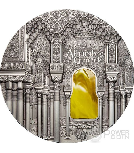 TIFFANY ART NASRID STYLE Alhambra Granada 1 Kg Kilo Серебро Монета 50$ Палау 2015