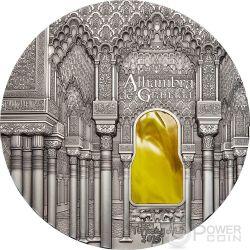 TIFFANY ART NASRID STYLE Alhambra Granada 1 Kg Kilo Moneda Plata 50$ Palau 2015