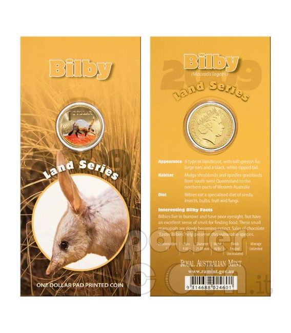 BILBY BANDICOOT LAND SERIES Moneta 1$ Australia 2009