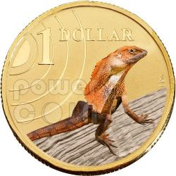 FRILLED NECK LIZARD LAND SERIES Moneda 1$ Australia 2009