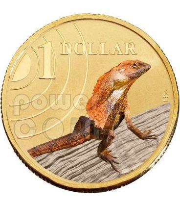 FRILLED LIZARD LAND SERIES Clamidosauro Moneta 1$ Australia 2009