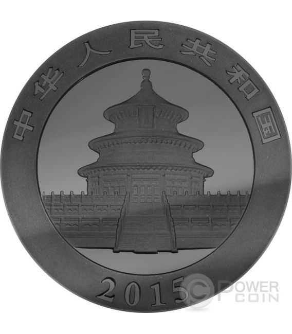 GOLDEN ENIGMA Panda Black Ruthenium 1 Oz Silver Coin 10 Yuan China 2015