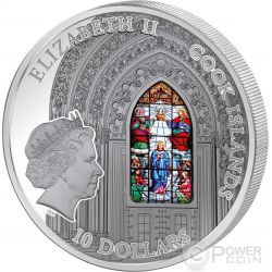 WINDOWS OF HEAVEN ZAGREB CATHEDRAL Kaptol Moneda Plata 10$ Cook Islands 2015