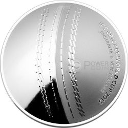 ICC CRICKET WORLD CUP Moneta Argento 5$ Australia 2015