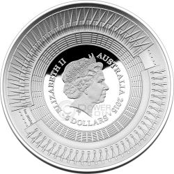 ICC CRICKET WORLD CUP Silver Proof Coin 5$ Australia 2015