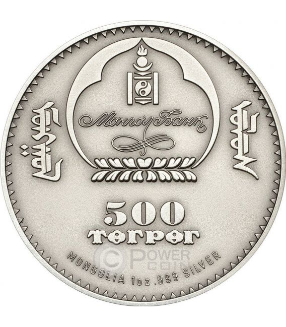 CAMPBELL HAMSTER Dwarf Wildlife Protection Серебро Монета 500 Тугриков Монголия 2015
