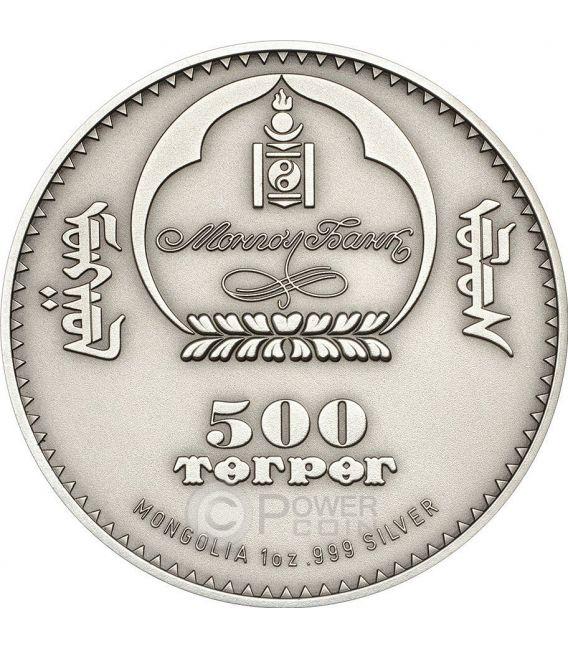 CAMPBELL HAMSTER Dwarf Wildlife Protection Silber Münze 500 Togrog Mongolia 2015