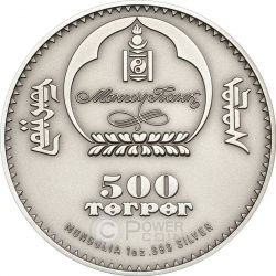CAMPBELL HAMSTER Criceto Orsetto Russo Moneta Argento 500 Togrog Mongolia 2015