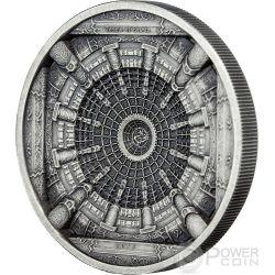 TEMPLE OF HEAVEN Beijing 4 Layer Antique Finish Moneda Plata 20$ Cook Islands 2015