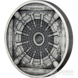TEMPLE OF HEAVEN Beijing 4 Layer Antique Finish Silver Coin 20$ Cook Islands 2015