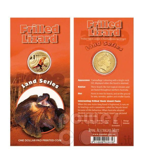 FRILLED NECK LIZARD LAND SERIES Coin 1$ Australia 2009