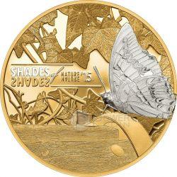 BUTTERFLY Shades of Nature Серебро Монета 5$ Острова Кука 2015