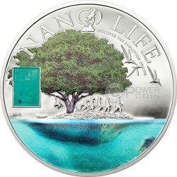NANO LIFE Evolution Plata Proof Moneda 10$ Cook Islands 2015