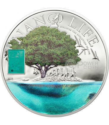 NANO LIFE Vita Evoluzione Moneta Argento Proof 10$ Cook Islands 2015