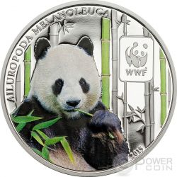 GIANT PANDA WWF World Wildlife Fund Coin 100 Francs Central African Republic 2015