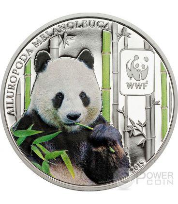 PANDA GIGANTE WWF Giant World Wildlife Fund Moneta 100 Franchi Repubblica Centrale Africana 2015