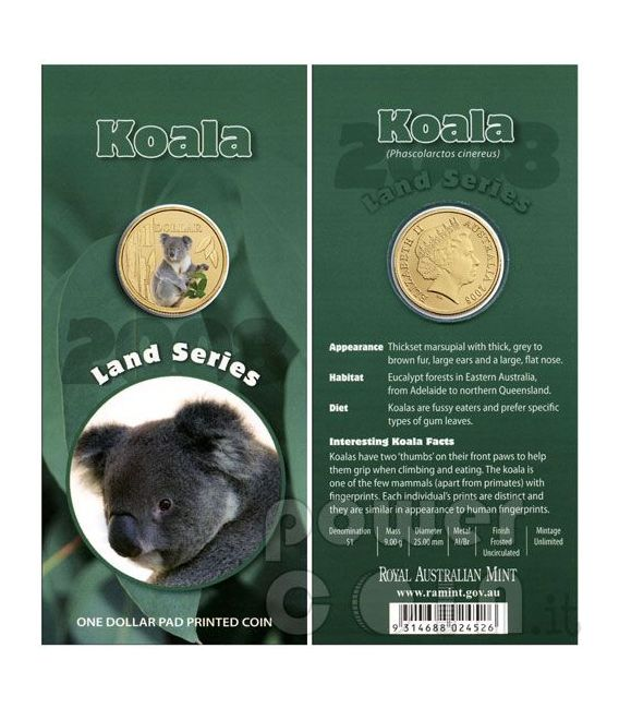 KOALA LAND SERIES Moneda 1$ Australia 2009