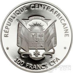 GIANT PANDA WWF World Wildlife Fund Münze 100 Francs Central African Republic 2015