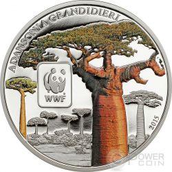 BAOBAB WWF World Wildlife Fund Münze 100 Francs Central African Republic 2015