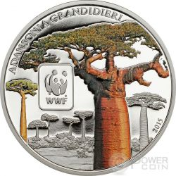 BAOBAB WWF World Wildlife Fund Coin 100 Francs Central African Republic 2015