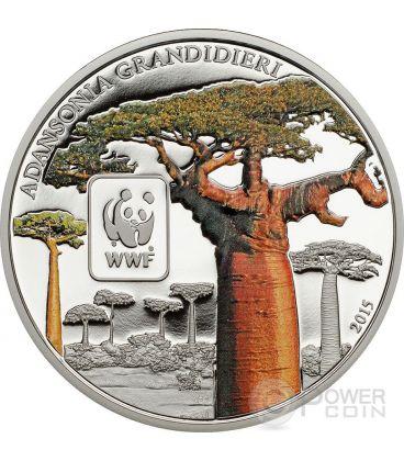 BAOBAB WWF World Wildlife Fund Coin 100 Francs Central African Republic 2015