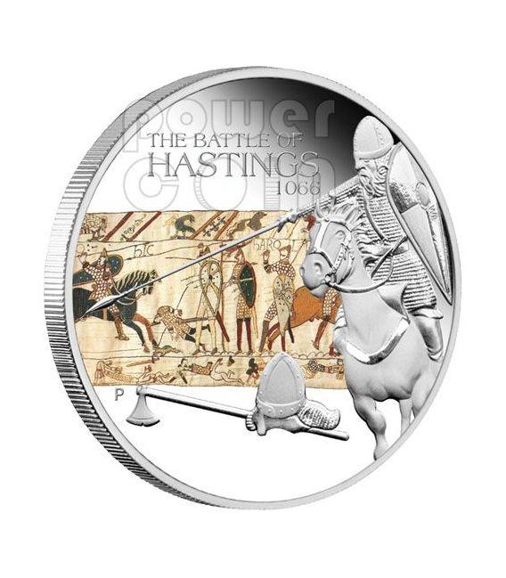 HASTINGS Battaglia 1066 Moneta Argento 1$ Tuvalu 2009