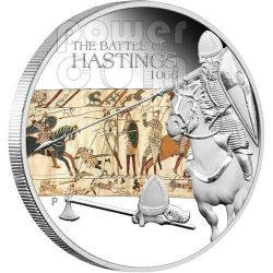 HASTINGS Battle 1066 Silber Münze 1$ Tuvalu 2009