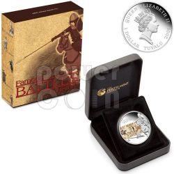 HASTINGS Battle 1066 Серебро Монета 1$ Тувалу 2009
